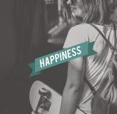 Bon bonheur Live Concept de sensation heureuse de la vie Photographie stock