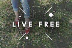 Bon bonheur Live Concept de sensation heureuse de la vie Images libres de droits