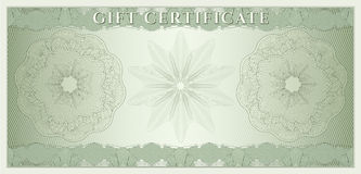 Bon, chèque-cadeaux, bon, argent Images libres de droits