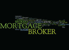 Bon courtier Word Cloud Concept de Vs Bad Mortgage de courtier en prêts hypothécaires Photographie stock libre de droits
