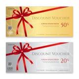 Bon de cadeau, certificat ou calibre de carte de remise pour le promo Co Photo stock