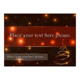 Bon de cadeau de Noël Image stock