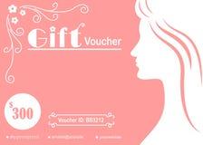 Bon de cadeau féminin de silhouette de femme Photo libre de droits
