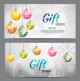 Bon de Noël et de cadeau de nouvelle année, calibre VE de bon de remise illustration libre de droits