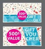 Bon floral de certificat de bon de cadeau Photographie stock libre de droits