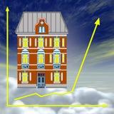 Bon investissement immobilier ou la propriété Image libre de droits