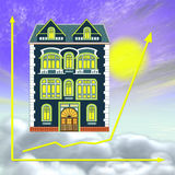 Bon investissement immobilier ou la propriété illustration libre de droits