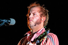 Bon Iver (American indie folk band founded in 2007 by singer-songwriter Justin Vernon) performs at Poble Espanyol Stock Image