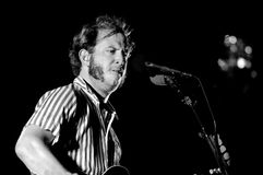 Bon Iver (American indie folk band founded in 2007 by singer-songwriter Justin Vernon) performs at Poble Espanyol Royalty Free Stock Photo