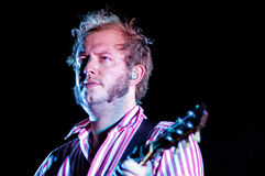 Bon Iver (American indie folk band founded in 2007 by singer-songwriter Justin Vernon) performs at Poble Espanyol Royalty Free Stock Images