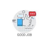 Bon Job Appreciations Business Evaluation Icon Photographie stock