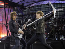 Bon Jovi leeft de Reis van 2011 Stock Foto