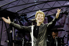 Bon Jovi vive a excursão 2011 Imagem de Stock Royalty Free