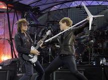 Bon Jovi vive a excursão 2011 foto de stock