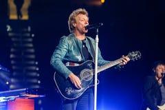 Bon Jovi vivent de concert Photos libres de droits