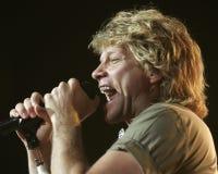 Bon Jovi wykonuje w koncercie zdjęcia stock