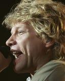 Bon Jovi wykonuje w koncercie fotografia stock