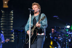 Bon Jovi żywy w koncercie Obrazy Royalty Free