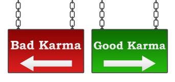 Bon mauvais karma Photos libres de droits