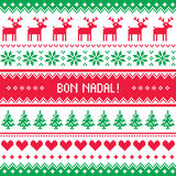 Bon Nadal greeting card - Merry Christmas in Catalan - Spanish language Stock Photos