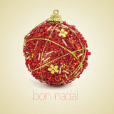 Bon nadal, merry christmas in catalan Royalty Free Stock Images