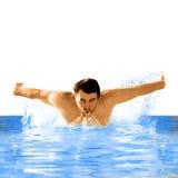 Bon nageur Photographie stock
