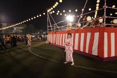 Bon Odori Dance Performance stock fotografie
