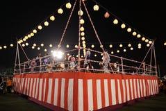 Bon Odori Dance Performance royalty-vrije stock afbeeldingen