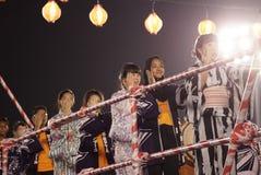 Bon Odori Dance Performance fotografering för bildbyråer