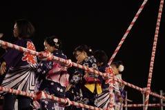 Bon Odori Dance Performance arkivbilder