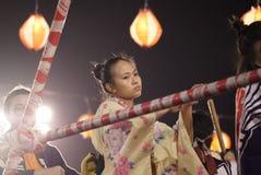 Bon Odori Dance Performance arkivbild