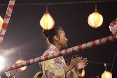 Bon Odori Dance Performance arkivfoton
