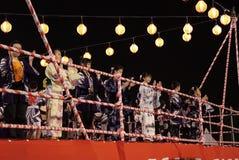 Bon Odori Dance Performance arkivfoto