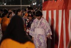 Bon Odori Dance Performance royaltyfri foto