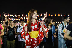 Bon-Odori Festival in Shah Alah,  on September 5, 2015. Stock Image