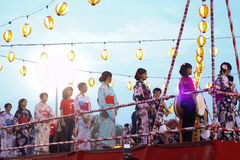 Bon-Odori Festival in Shah Alah,  on September 5, 2015. Stock Photography