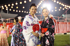 Bon-Odori Festival in Shah Alah,  on September 5, 2015. Royalty Free Stock Images