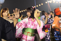Bon-Odori Festival in Shah Alah,  on September 5, 2015. Royalty Free Stock Photography