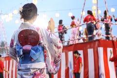 Bon-Odorifestival i schah Alah, på September 5, 2015 royaltyfri foto