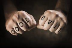 Bon ou mauvais Image libre de droits