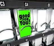 Bon pour vous option saine bien choisie de distributeur automatique de nourriture de casse-croûte Images stock