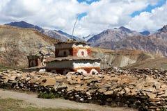 Bon stupa in Saldang, Nepal Stockbilder