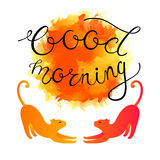 Bon Sunny Morning Greeting Card Images libres de droits