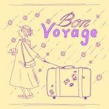 Bon Voyage Royaltyfri Illustrationer
