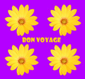 Bon voyage. Abstract creative floral  greeting scene Stock Photography