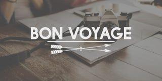 Bon Voyage Adventure Farewell Journey Transport Concept Stock Photography