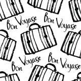 Bon Voyage Background con las maletas Foto de archivo
