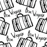 Bon Voyage Background with suitcases Stock Photo