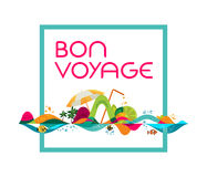 Bon Voyage - banner, vector template illustration Stock Photography