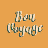 Bon voyage. Brush lettering vector illustration. Bon voyage. Brush hand lettering vector illustration. Inspiring quote. Motivating modern calligraphy. Great for Stock Photos